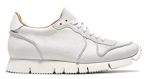 BUTTERO Men's Sneaker Carrera in Pelle Bianca 42,5(IT)-9½(US) White