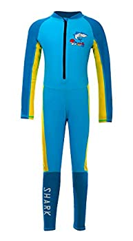 Happy Cherry Boys Lycra Diving Suit Full Body High Stretchy Quick Drying Long Sleeve Canoeing Watersports Swimwear 4-5T Yellow