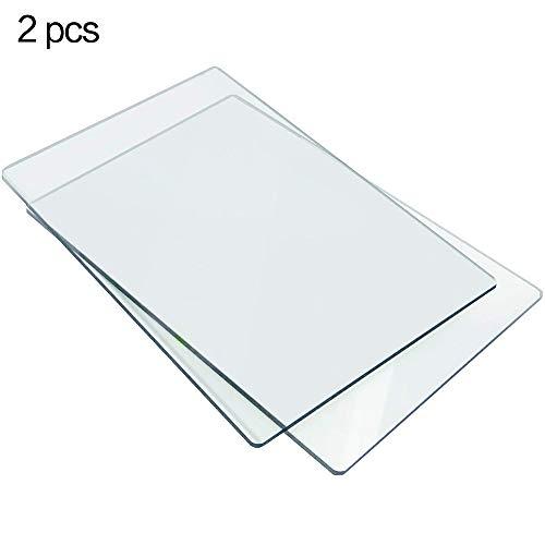 LOKIH Plexiglasplatte Transparent Kunststoff Plexi Glasplatte mit Schutzpapier Leicht zu schneiden 0.8x10x10cm / 0.31x3.9x3.9inch, 2 Stück