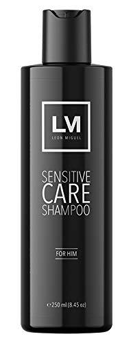 LEON MIGUEL Sensitive Care Shampoo - Shampooing anti-chute Cheveux Shampooing anti-Pellicules pour Repousse des Cheveux   Plus de volume (FOR HIM)
