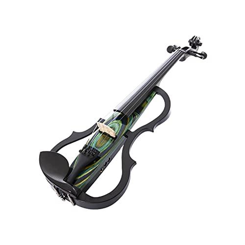 violín Calidad Hecha A Mano De Madera Maciza 4/4 Violín Eléctrico. Kit de violín