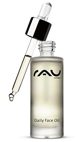 Gesichtsöl bei trockener und unreiner Haut - Luxuriöse Gesichtspflege mit verschiedenen natürlichen Ölen und Vitamin E - RAU Daily Face Oil 30 ml