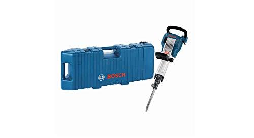Bosch GSH 16-30 Professional - Martillo demoledor, cincel puntiagudo 400 mm, hexágono interior de 30 mm, energía de impacto 41 J, 1750 W, Trolley