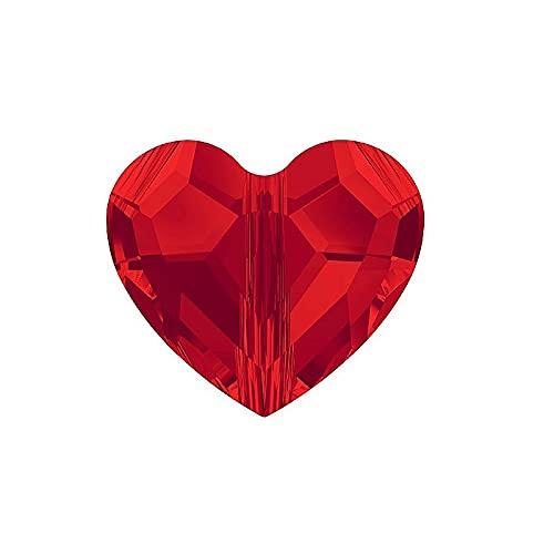 2 cuentas de amor de cristales de Swarovski (5741) – perla, luz Siam de 8 mm (Swarovski Crystal Crystals Love Bead (5741) – Bead, Light Siam 8 mm)