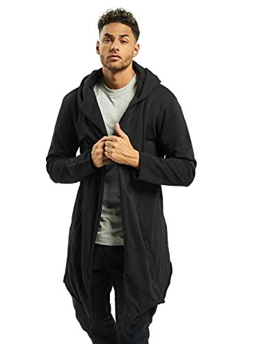 Urban Classics Long Hooded Open Edge Cardigan, Black, L Uomo