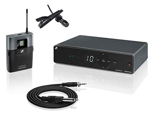 Sennheiser XSW 1-CI1 Instrumental Komplettset (All-in-One Wireless System Diversity-Empfänger mit Antennenumschaltung & integrierter Antennen, Set inkl. Lavalier-Mikrofon mit Zubehör)