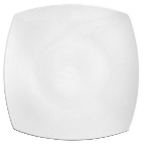 Saturnia Tokio Rahmen Teller, Porzellan, Weiß, 31x 31x 4cm