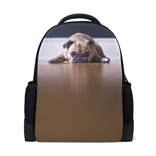 LIANCHENYI Rucksack mit Bulldogge, liegend auf dem Boden, lässiger Rucksack, Schultasche, Reiserucksack