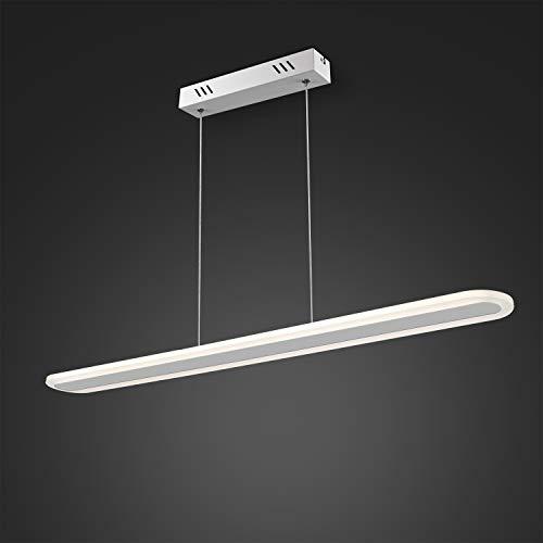 EYLM Lámpara de Techo 40W Moderna Lámpara LED Colgante con Aplicación Plafón Regulable en Altura Lámpara Controlada por Teléfono Móvil y Mando a Distancia, Ideal para Casa y Oficina