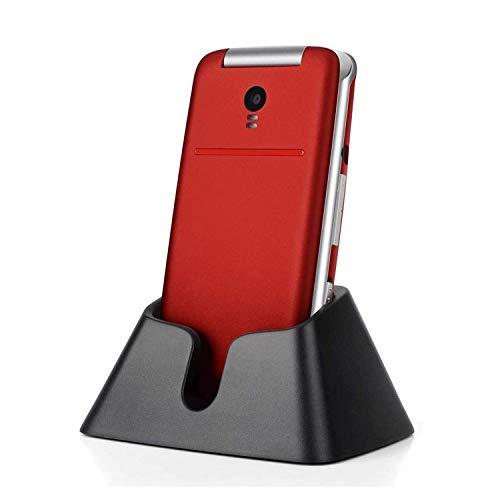 Artfone Teléfono móvil con botón grande para ancianos - Desbloqueado Senior Flip Teléfono móvil, Teléfono móvil SOS, Teléfono móvil Senior con muelle de carga (rojo)