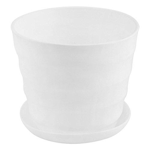 sourcing map Maison Bureau Jardin Plante Bande en plastique contenant semoir Pot Fleurs Blanc