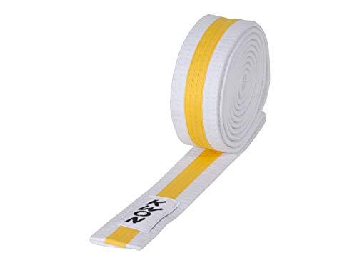 Kwon Jugendgürtel (Kindergürtel), Mehrfarbig 200 weiß-gelb-weiß