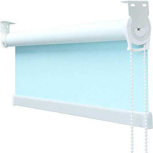 dusg Estor Enrollable Semi-sombreado Azul Claro Semitransparente 2605-A 50 × 130cm Disponible EN Varias Medidas Y Colores