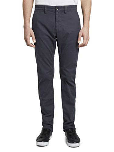 TOM TAILOR Herren Hosen & Chino Travis Slim Chino Navy Yarn dye Structure,38/34