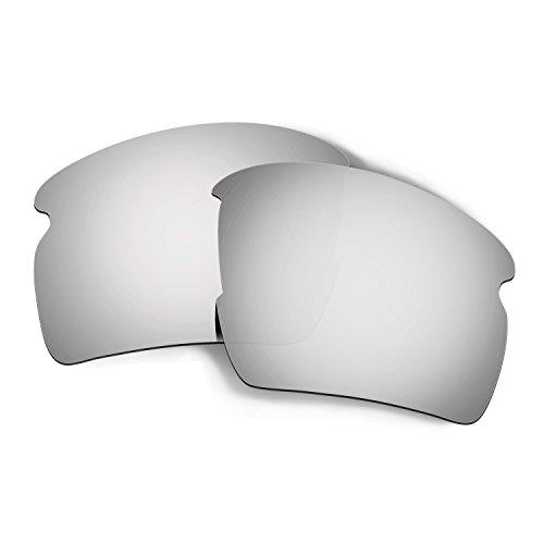 HKUCO Reforzarse Lentes de Repuesto para Oakley Flak 2.0 AF OO9271 Gafas de Sol Titanio Mirror Polarizado
