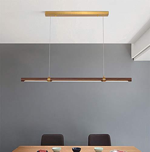 LED hanglamp eettafel lamp hanglamp van metaal acryl lampenkap 20W 3000K in hoogte verstelbaar langwerpig design hanglamp voor woonkamer restaurant werkkamer keuken verlichting, L100 cm