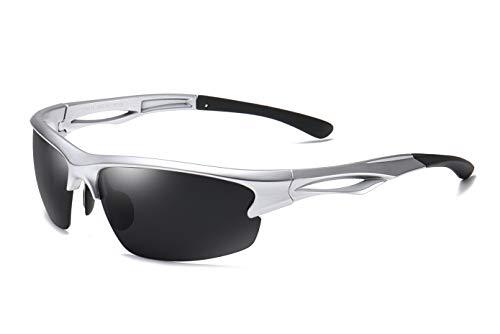 Skevic Gafas de Sol Hombre Mujer Polarizadas TR90 - Gafas Running, Gafas Ciclismo Hombre Ideales para Deporte, Pesca, MTB, Esquí, Golf, Bicicleta, etc. Gafas de Sol Deportivas Protección 100% UV400