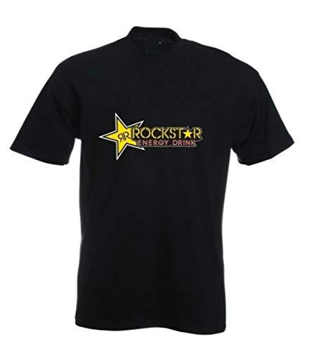 Rockstar Energy T-Shirt New Men's Fashion Short Sleeves Cotton Tops Clothing, Black
