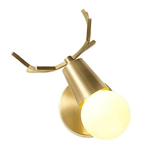 Siet Luz de Pared Moderna/del Norte de Europa con la lámpara de Pared de Acabado de latón Giratorio de 90 ° for la habitación de los niños de la Lectura del Dormitorio, el Socket E27 1 Accesorios de