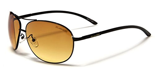 X-Loop HD Vision High Definition Lens Aviator Sunglasses wth Spring Hinge