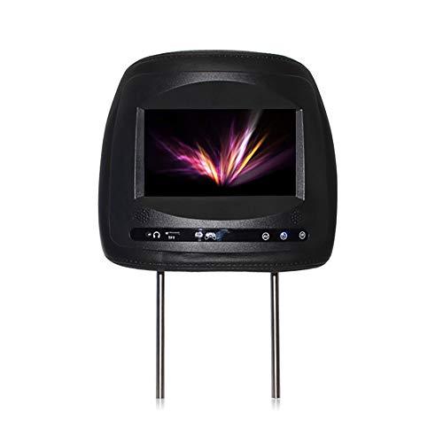 Roboraty Auto KopfstüTze LED-Player, 7-Zoll-Universal-HD-Touchscreen, RüCkenlehne TV-Monitor, UnterstüTzung TF/SD/USB/U-Disk, ZerstöRungsfreie Installation, UnterstüTzung Navigationsvideo,Black
