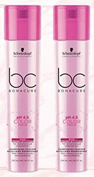 Schwarzkopf - Lot de 2 Shampooing Micellaire Rich pH 4.5 Color 250ml : Shampooing micellaire Rich pour cheveux colorés très sensibilisés