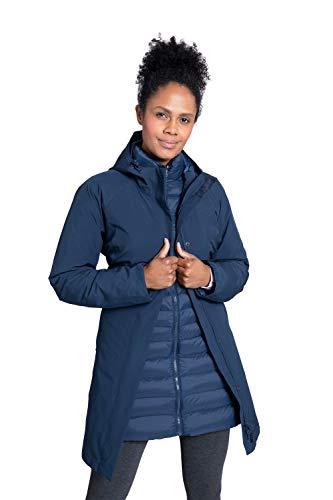 Mountain Warehouse Giacca Invernale Alaskan Womens 3 in 1 - Impermeabile 10.000 mm, Cappotto Imbottito da Donna, Giacca Interna Rimovibile - per l'escursionismo Blu Navy 50