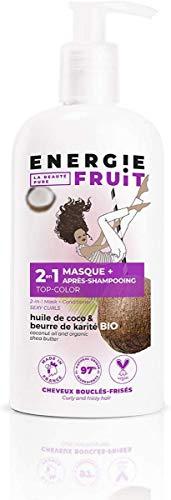 Energie Fruit 2en1 Masque + après-shampooing coco et beurre de karité bio - Le flacon de 300 ml