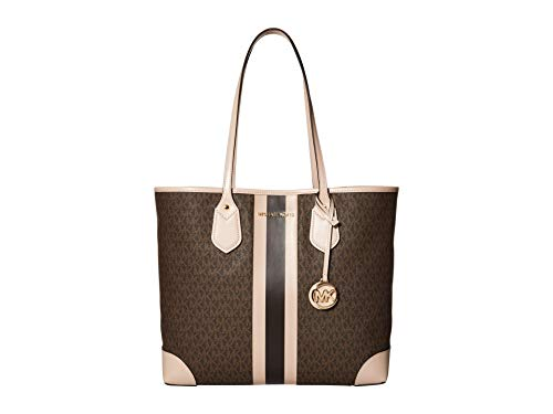 MICHAEL Michael Kors Eva Large Tote Brown/Soft Pink One Size