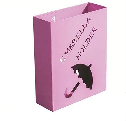 DJY-JY Hierro paragüero Inicio Vertical en el Suelo Antideslizante de Color Rosa Paraguas Stand (41 * 33 * 12 cm)