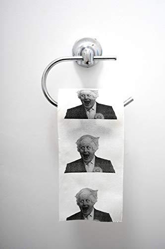 One Boris Johnson Toilet Paper Rolls Funny Novelty Gift - Ideal Christmas Bathroom Decoration, Funny Christmas Secret Santa Prank Joke Gift