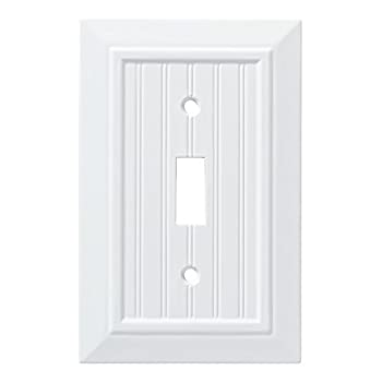 Franklin Brass W35265-PW-C Classic Beadboard Single Switch Wall Plate/Switch Plate/Cover Pure White