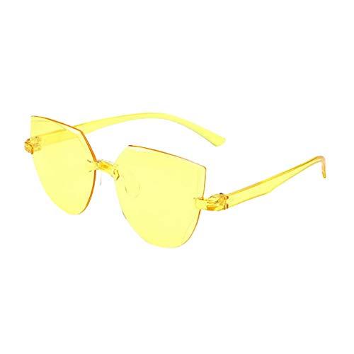 Xniral Sonnenbrille Frauen Herren Rahmenlos UV400 Sonnenbrille Mehrere Farben(C)