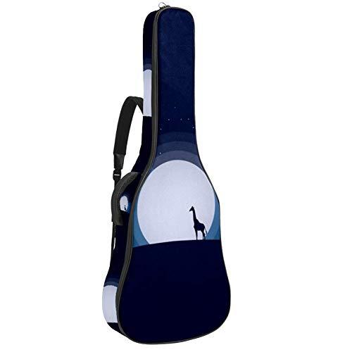 Blue Moon Rays - Bolsa para guitarra, impermeable, tela Oxford, 2 bolsillos para guitarra acústica clásica 40 41 42 pulgadas