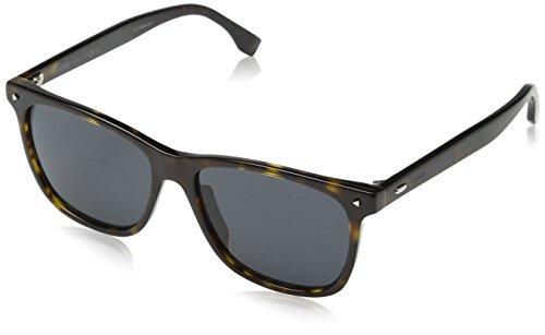 Fendi heren FF M0002/S IR 086 55 zonnebril, bruin (Havana/Grey)