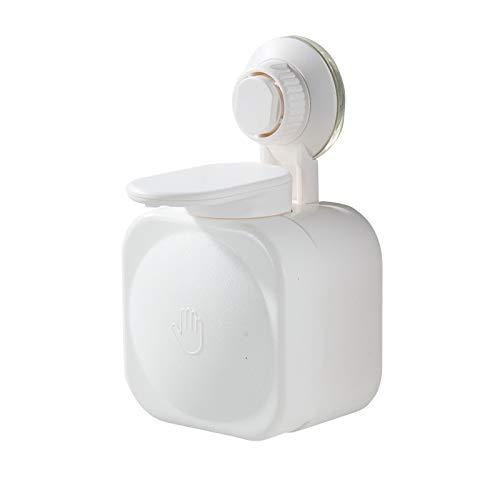 Dispensador de jabón Prensa dispensador de jabón de baño vacío palillo de dispensador de jabón de baño de pared caja de prensa de succión ducha del champú del gel de la caja de la botella Dispensador