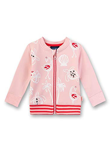 Sanetta Baby-Mädchen Sweatjacke, Rosa (Rose 38099), 86 (Herstellergröße: 086)