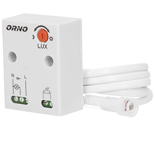 Orno CR- 233 Dämmerungsschalter Aussen mit externer Sonde im Gehäuse || Lichtstärke LUX Anpassung || Schutzart : IP65