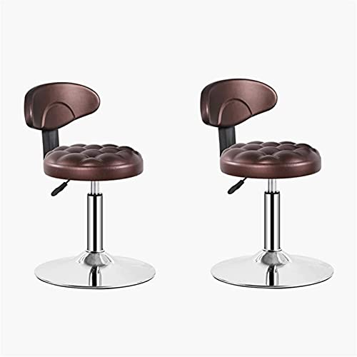 WENLI Adjustable Barstools Outdoor Swivel Bar Chairs Set Of 2, Patio Adjustable Height Chairs, Modern Garden Furniture Bar Chair, 360° Swivel Patio Bar Stool pub seat Counter Bar Chairs