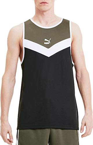 PUMA Iconic MCS Tank Camiseta De Tirantes, Hombre, Black, S