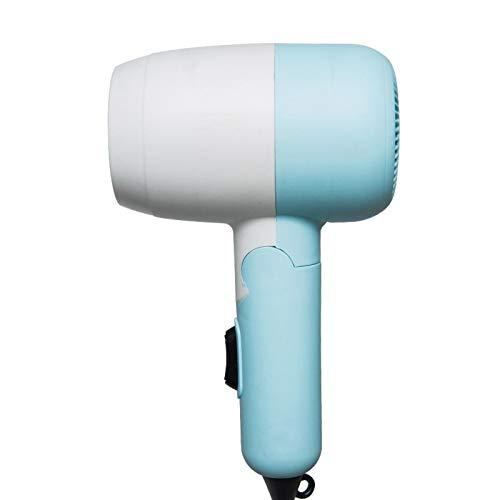 Secador de Pelo 110V Mini secador de Pelo Plegable específico para Estudiantes 2 Niveles para Ajustar la Potencia del Viento Fácil de Llevar en Viajes de Negocios 蓝色