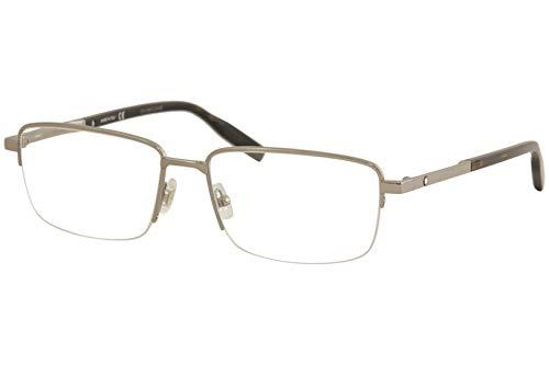 Montblanc Occhiale da Vista MB0020O 005 grigio montatura metallo taglia 58 mm occhiale uomo