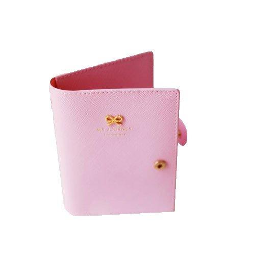 ribbon passport holder スキミング防止 パスポート 入れ パスポートケース トラベル (薄ピンク) 11301