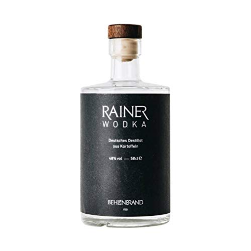 Rainer Wodka/Premium Wodka - Deutsches Destillat aus regional und biologisch angebauten Kartoffeln abgefüllt in hochwertiger Designflasche - sehr reiner, dreifach filtrierter Wodka