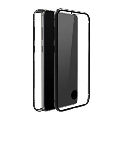 Black Rock - Handyhülle 360 Grad Glass Hülle Hülle passend für Samsung Galaxy S10 Plus | Cover Magnet Verschluss, Durchsichtig, Kratzschutz (Transparent mit schwarzem Rahmen)