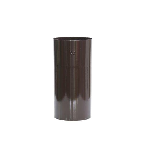 Kamino - Flam – Tubo para chimenea (120 mm/longitud 250 mm), Tubo para estufa de leña, Conducto de humos – esmalte resistente a altas temperaturas – durable, estable – marrón