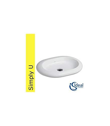 Ideal Standard wastafel Simplyu T0142 natuurschaal, 60 cm breed, ovaal