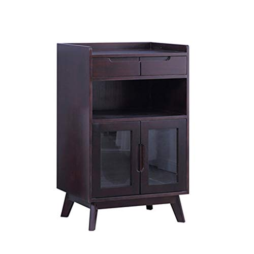 YADSHENG Sideboard Sideboards Chinese Style Tea Cabinets Tea Cabinets Simple Modern Dining Side Cabinets Living Room Office Lockers Buffets & Sideboards (Color : Purple, Size : 60x40x95cm 2)