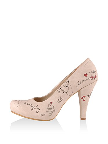 DOGO Damen Just Married Pumps, beige, 37 EU