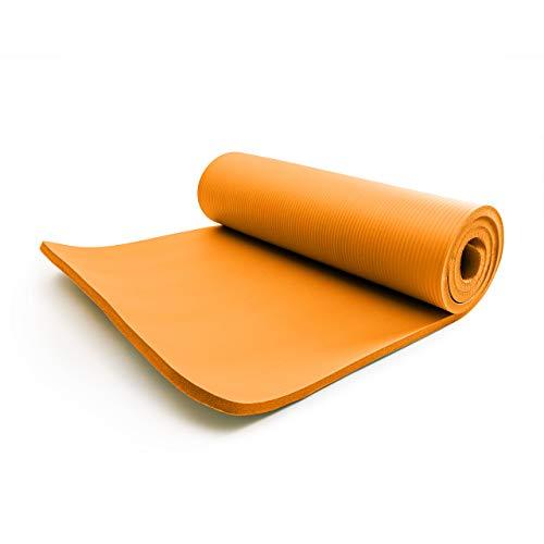 #DoYourFitness Esterilla para Fitness »Yamuna« / Colchoneta Extra Gruesa y Suave, Pilates, Gimnasia y Yoga/Estera Deporte/Medidas: 183 x 61 x 1,5 cm/Naranja
